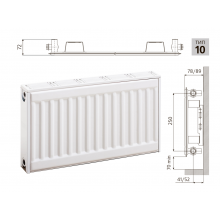 Cтальной панельный радиатор PRADO Classic 10х300х1000
