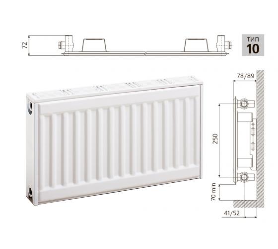 Cтальной панельный радиатор PRADO Classic  10х300х400