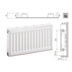 Cтальной панельный радиатор PRADO Classic 10х300х800