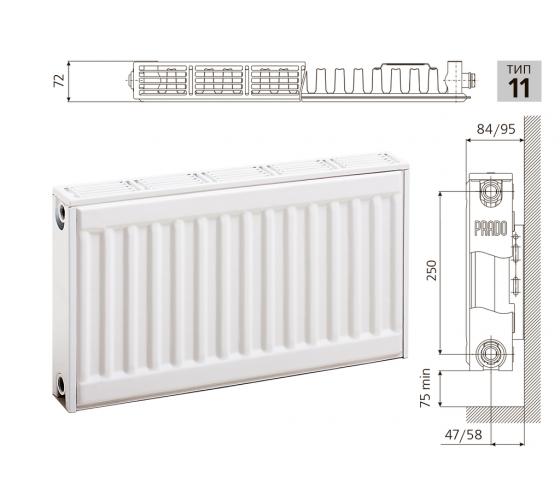 Cтальной панельный радиатор PRADO Classic  11х300х1100