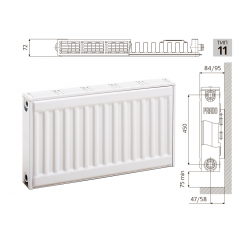 Cтальной панельный радиатор PRADO Classic  11х500х1100