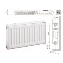 Cтальной панельный радиатор PRADO Classic  11х500х400