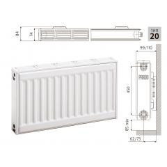 Cтальной панельный радиатор PRADO Classic  20х500х1100
