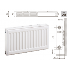 Cтальной панельный радиатор PRADO Classic  20х500х500