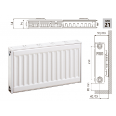 Cтальной панельный радиатор PRADO Classic  21х300х400