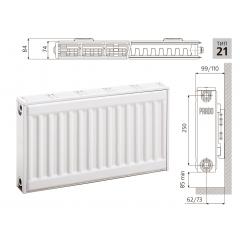 Cтальной панельный радиатор PRADO Classic  21х300х700