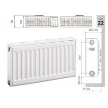 Cтальной панельный радиатор PRADO Classic 22х500х600