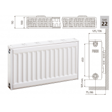 Cтальной панельный радиатор PRADO Classic 22х500х900