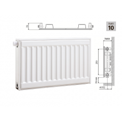 Cтальной панельный радиатор PRADO Universal  10х300х600