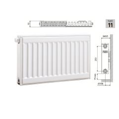 Cтальной панельный радиатор PRADO Universal 11х300х2600