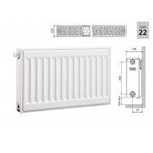 Cтальной панельный радиатор PRADO Universal 22х500х500