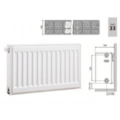 Cтальной панельный радиатор PRADO Universal 33х300х600